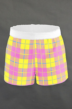 Pink & Yellow Plaid Shorts