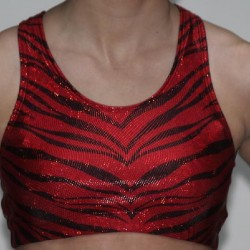 Red Glitter Sports Bra